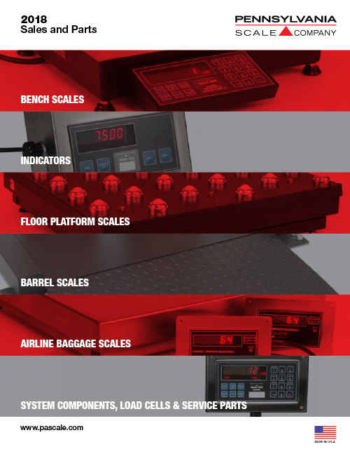 PA Scale Sales and Parts Catalog