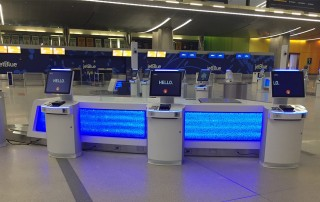 jetBlue Repcak Counter with Kiosks